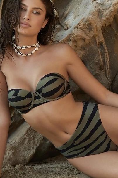Pilyq Swim Tiger Lily Nova Bandeau Bikini