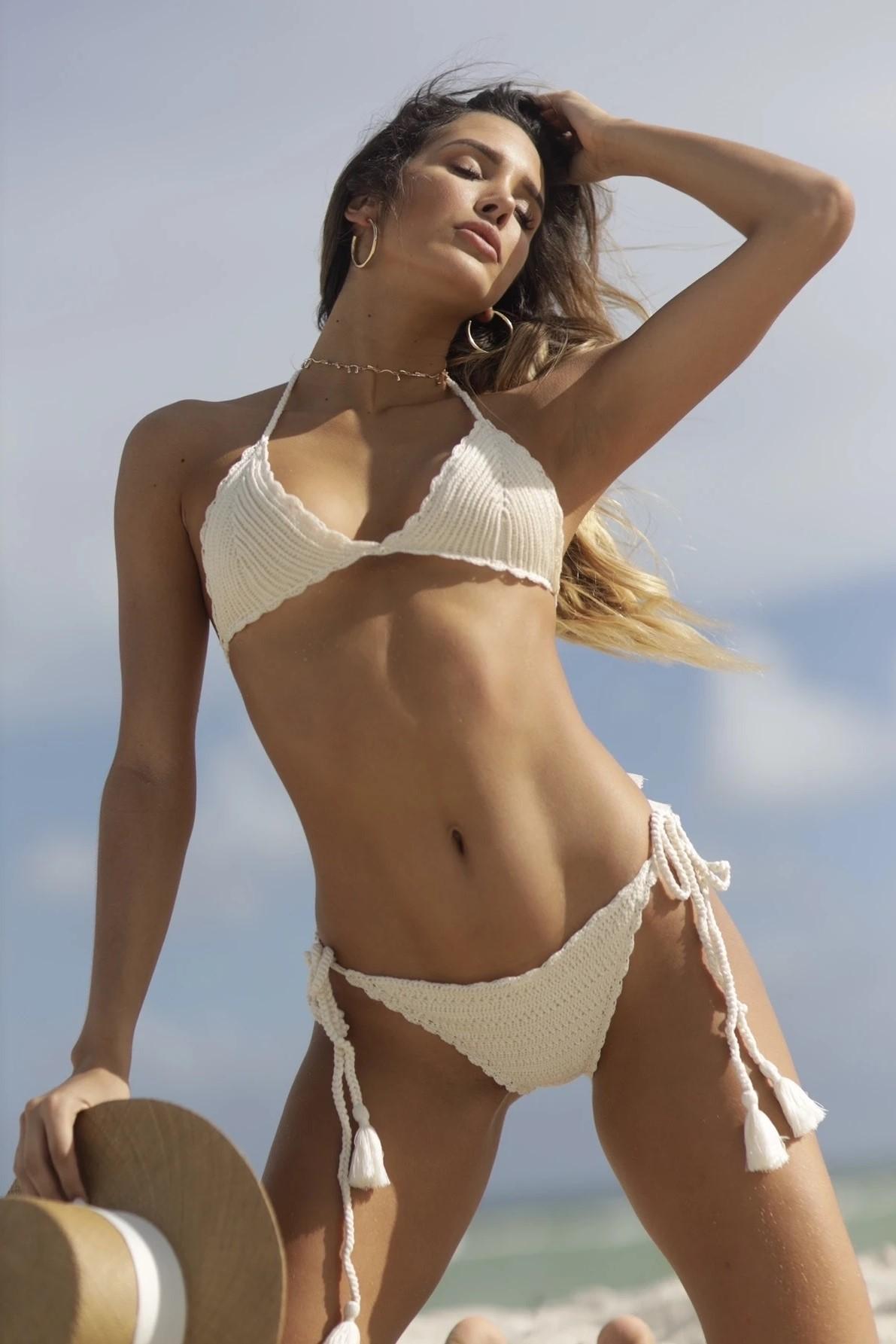Almamia Off White Crochet Bikini