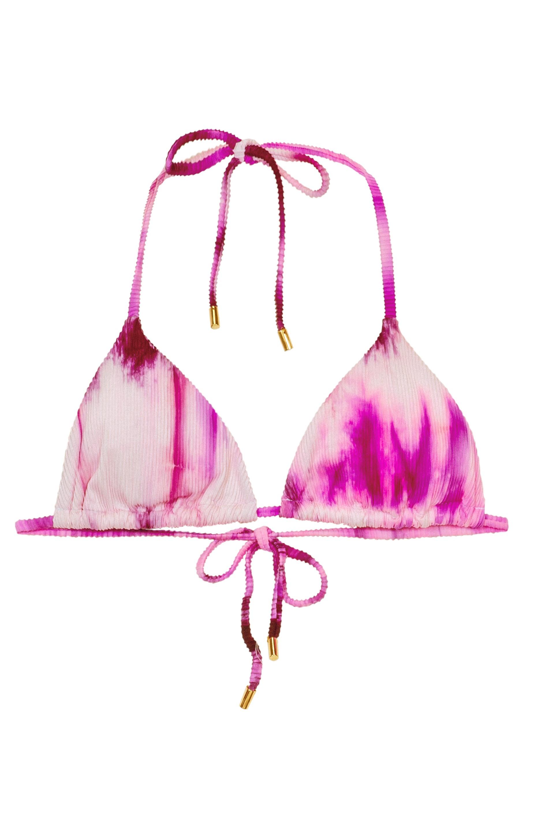 Pilyq Swim Spell Avery Tie Dye Triangel Bikini Top