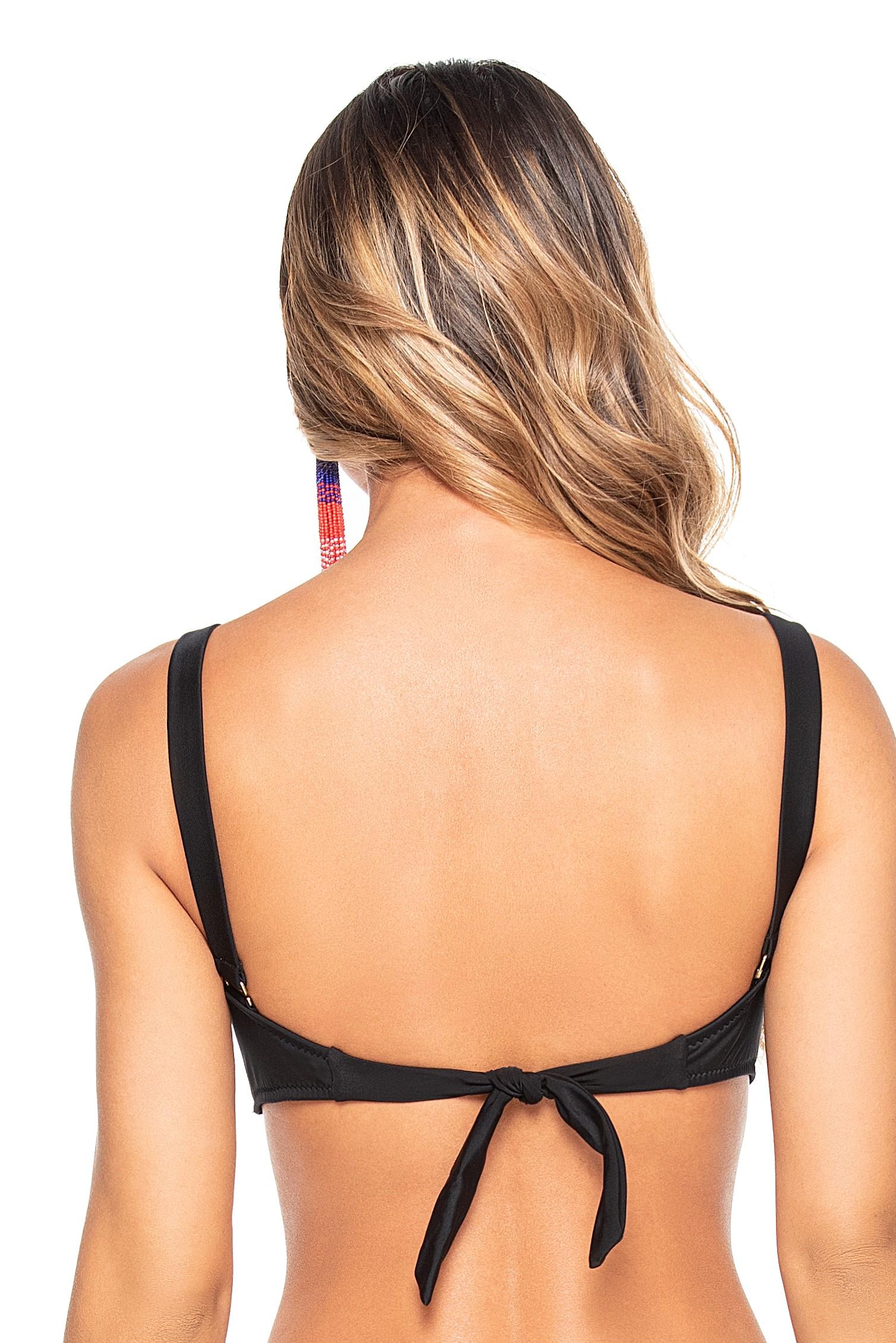 Phax Zwarte beugel bandeau bikini top