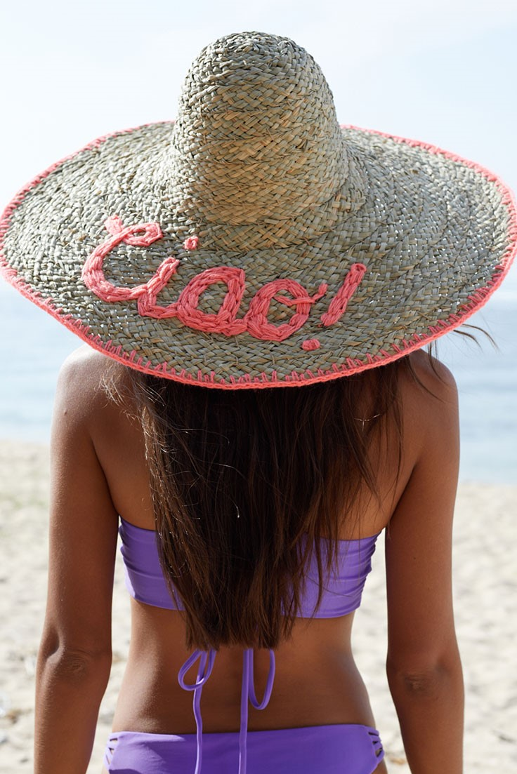 Beach Fashion Only Seagrass Hat Ciao Coral