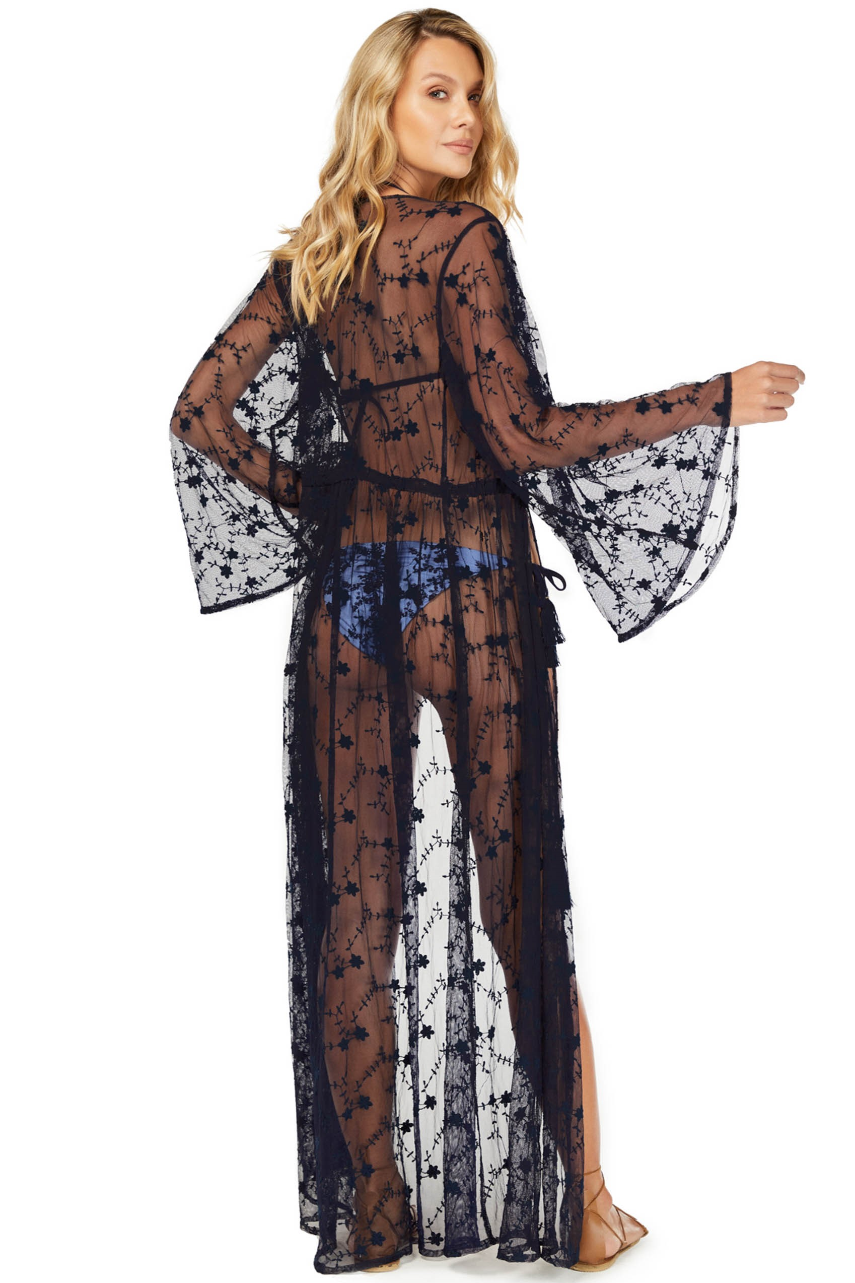 Cosita Linda Mini Blossom Mesh Luxury Kimono