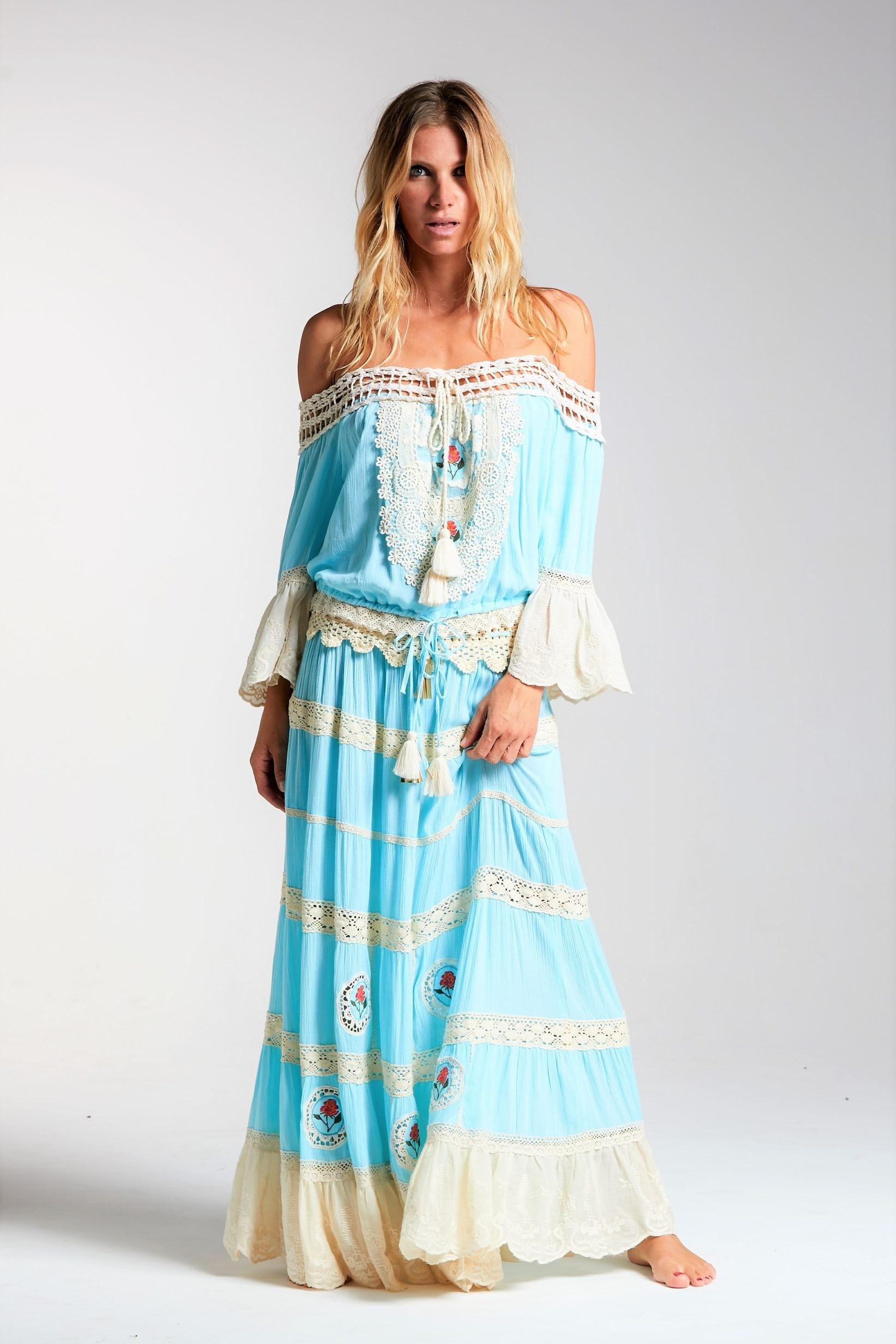 Always The Sun Key Largo Luxury Top & Skirt Blue