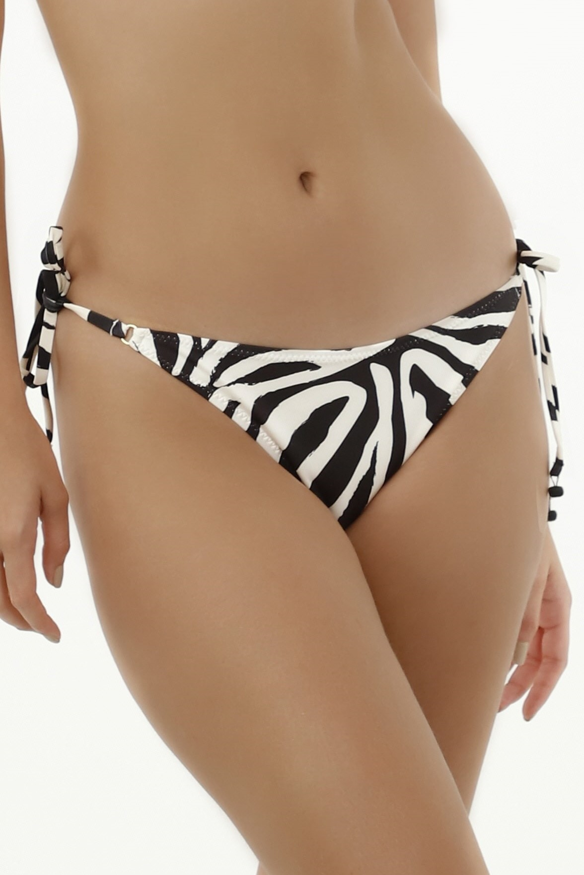Milonga Zafari Tie Side Bikini Bottom Zebra