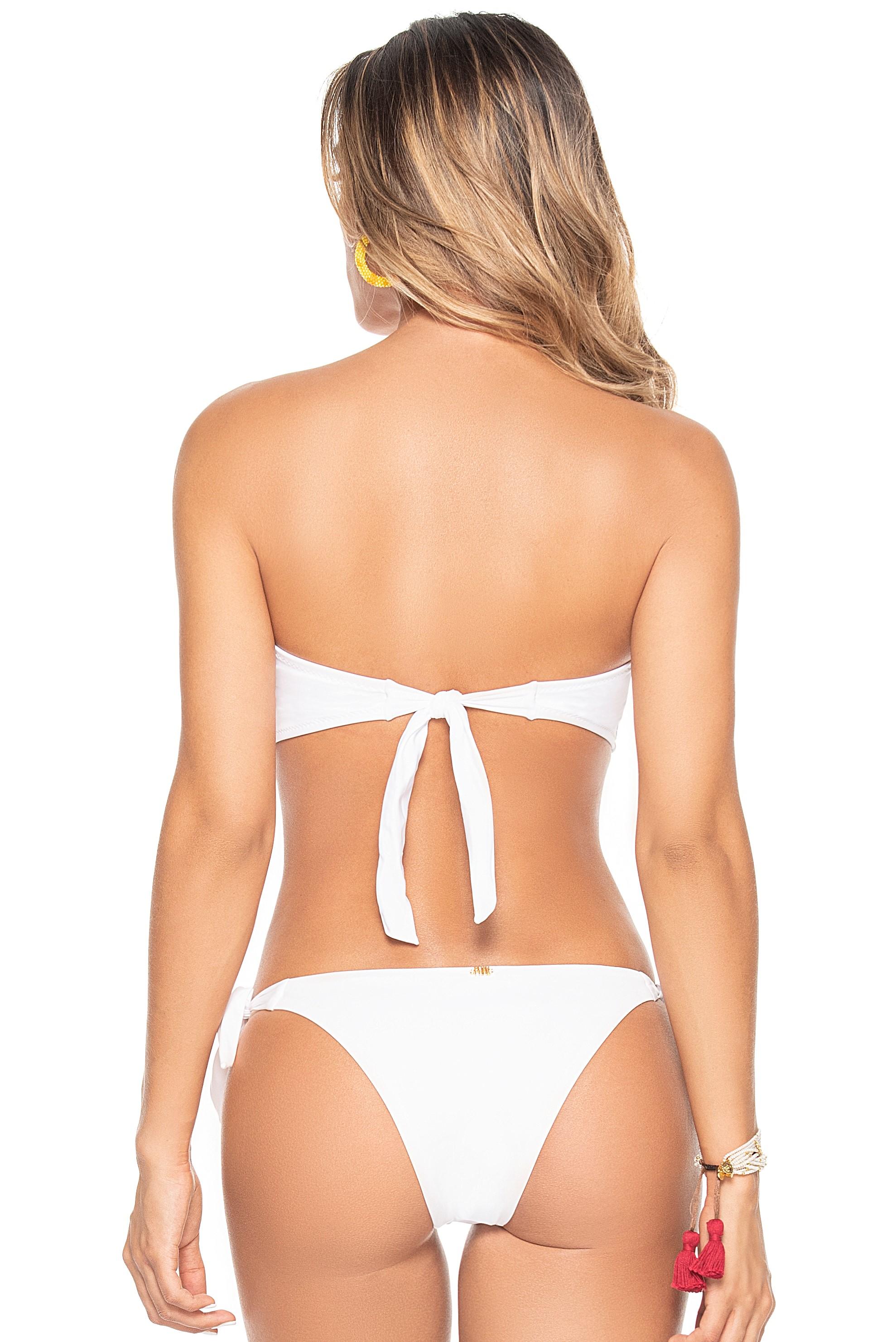 Phax White Triangle Tie Side Bikini Macaron