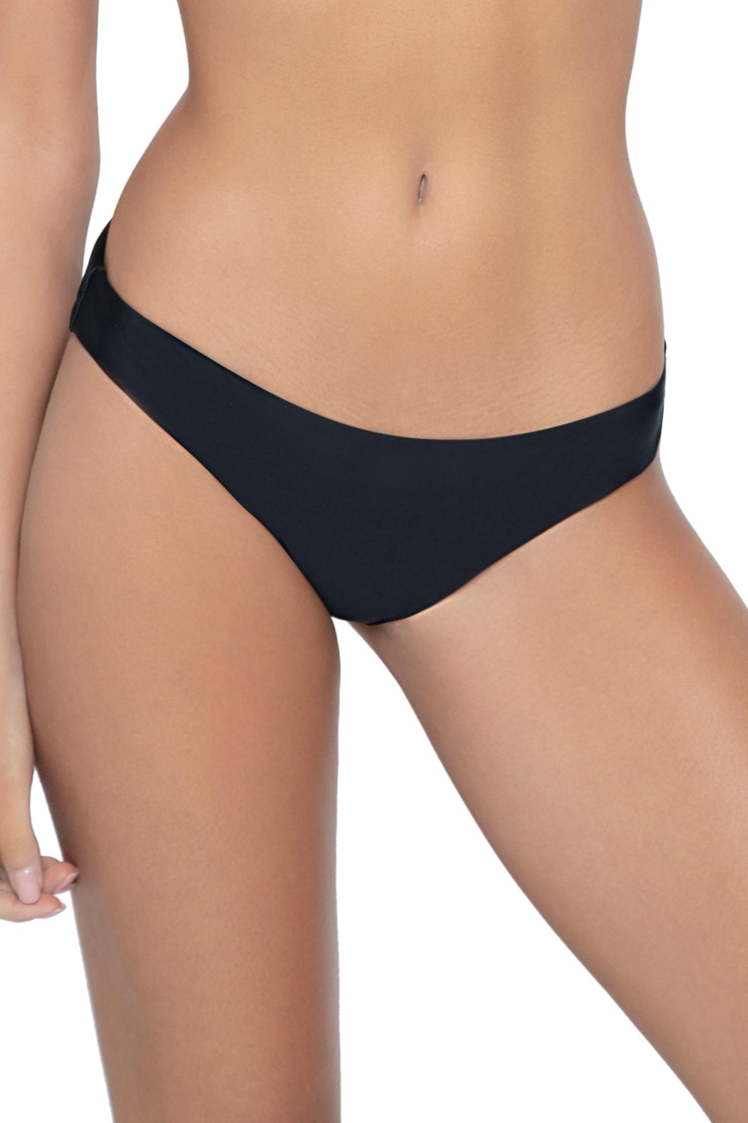 Pilyq Swim Midnight Scrunch Bikini Bottom Black