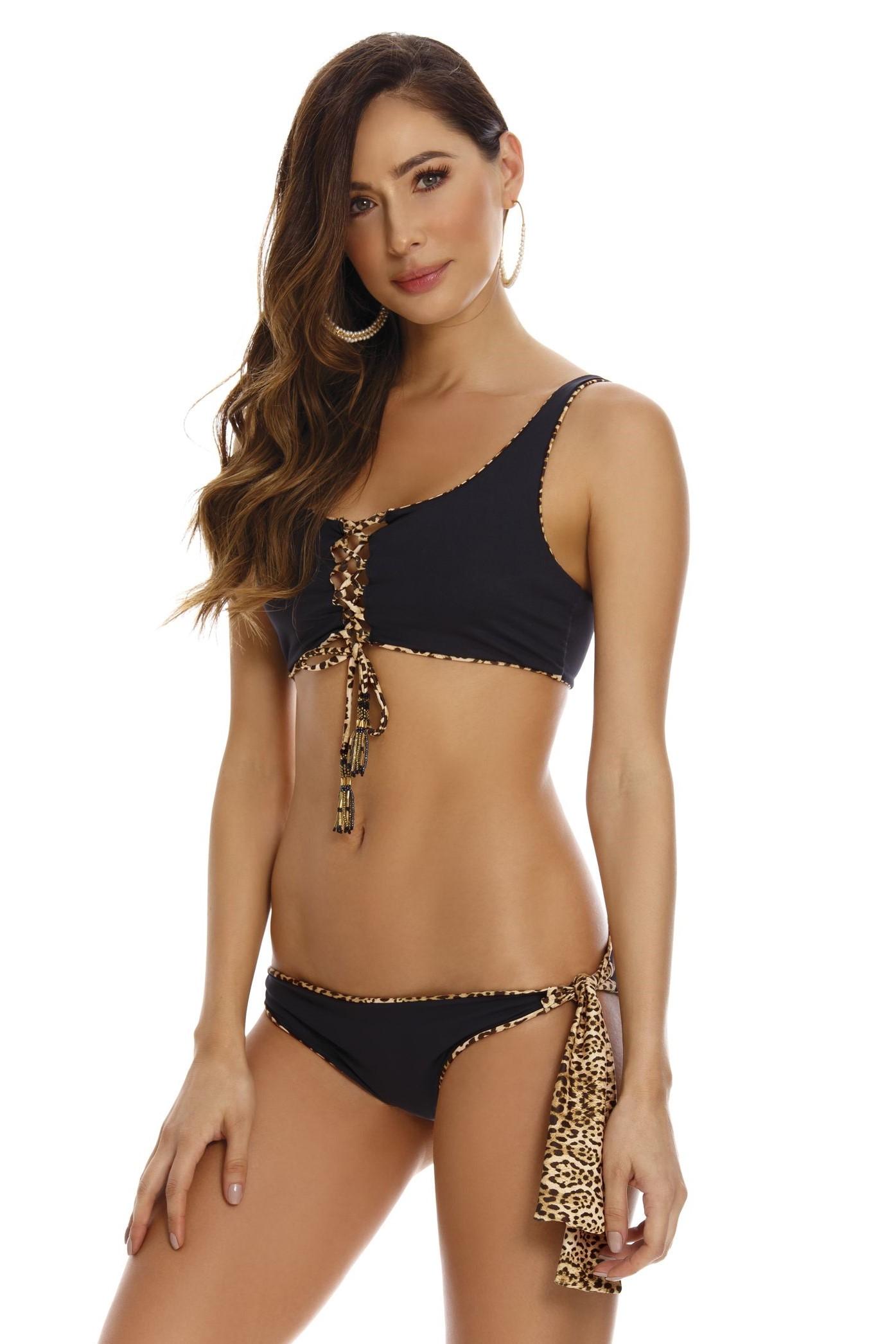 Milonga Leopard Omkeerbare Bralette bikini