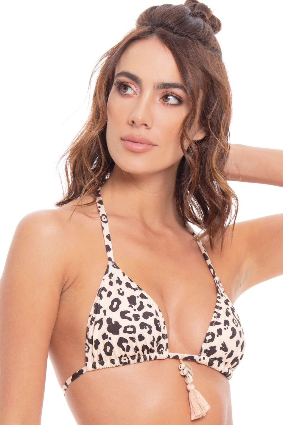 Milonga Jaguar Wild Triangle Bikini Top Animal Print