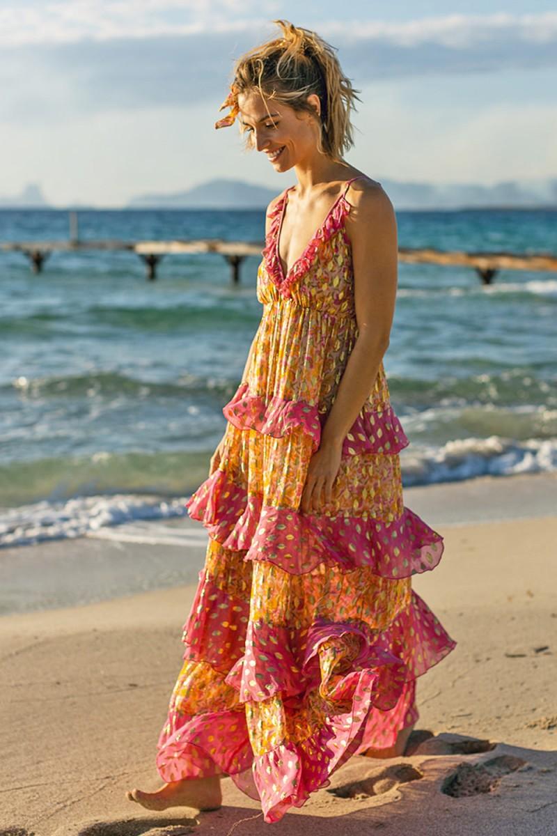 Miss June Dress Moon Pink