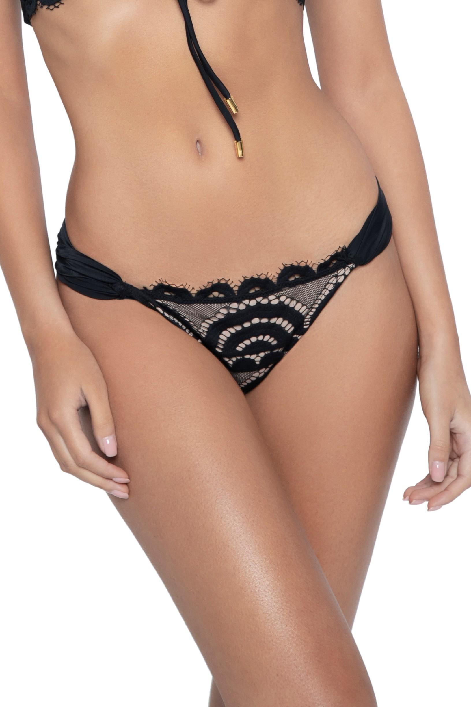 Pilyq Swim Midnight Kanten Bikini Broekje Zwart