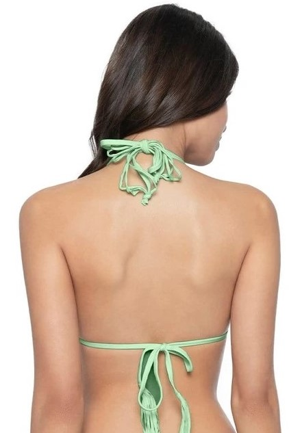 Pilyq Swim Aloe Isla Triangel Bikini Top Mint Groen
