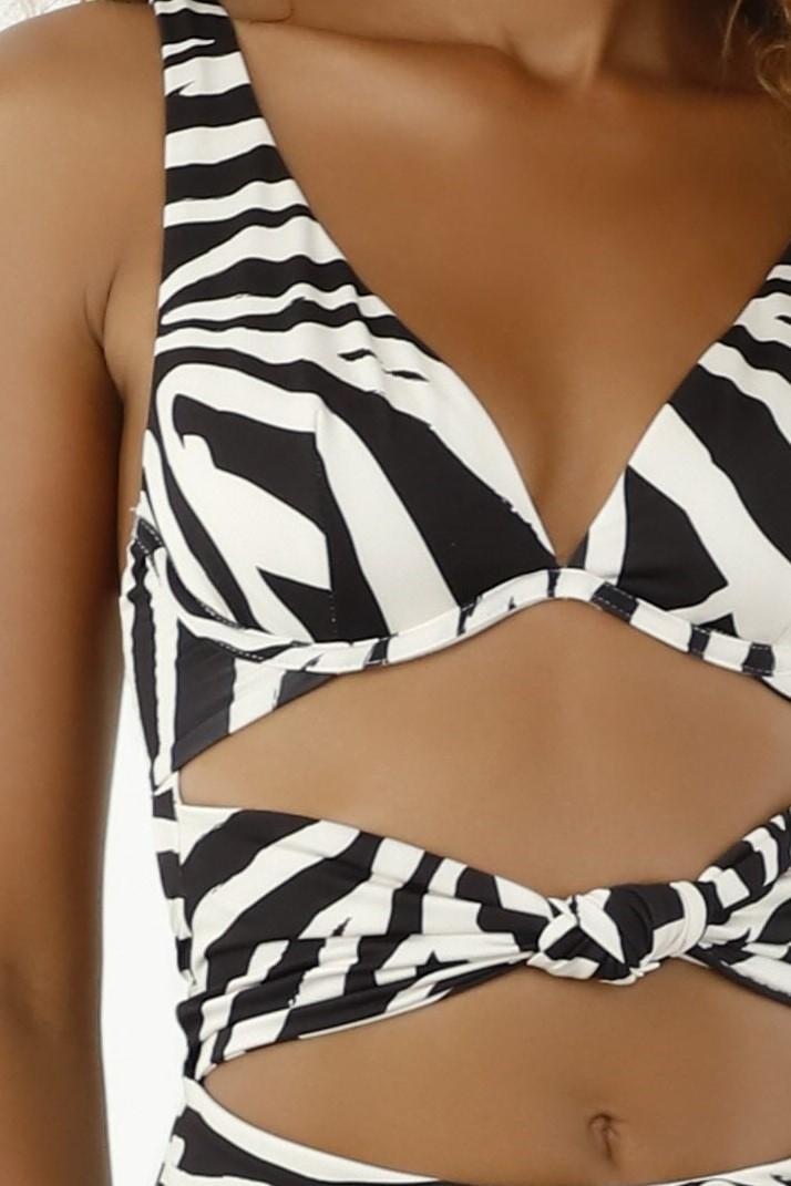 Milonga Zafari Wire Swimsuit  Zebra