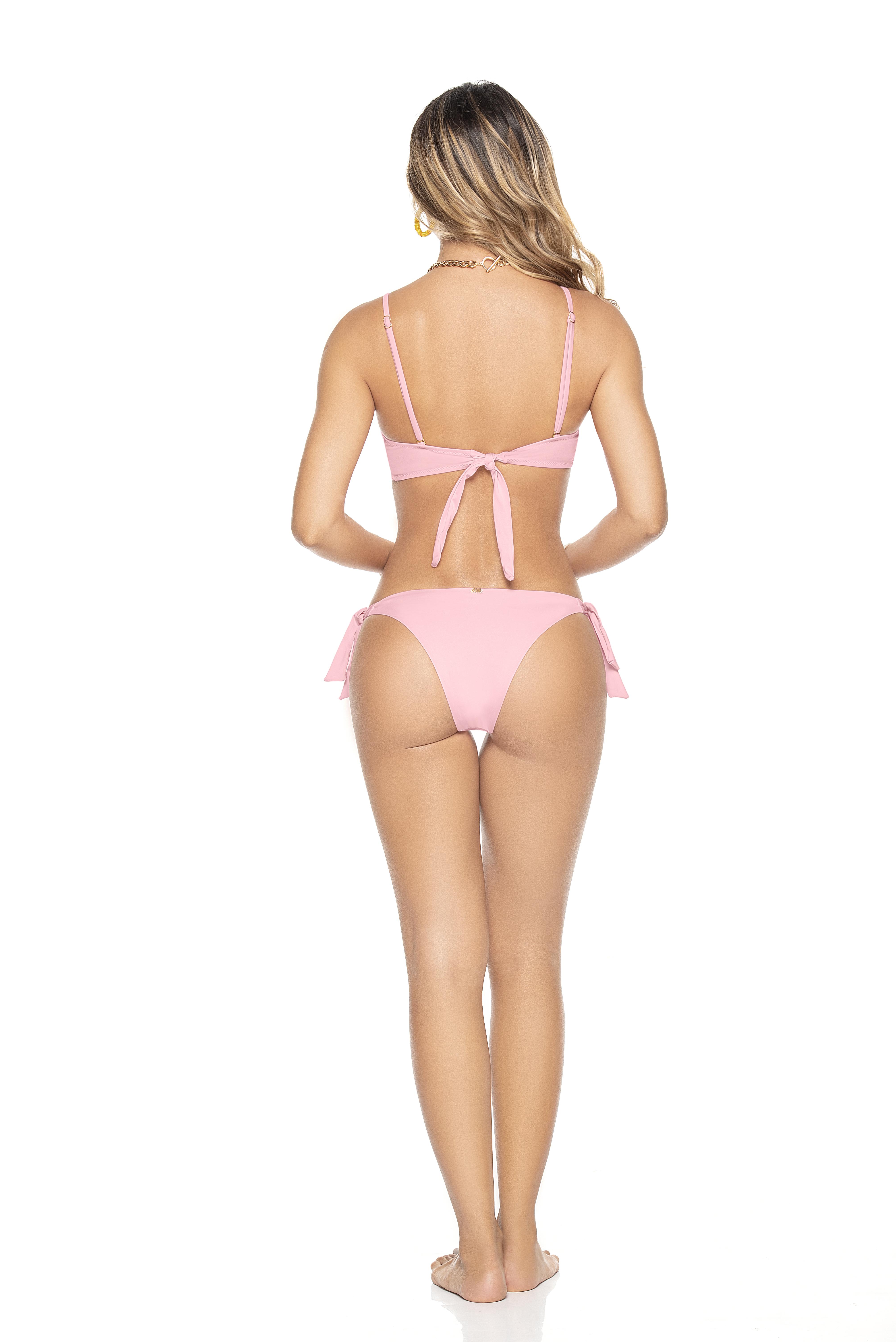 Phax Licht Roze Tie Side Triangel Bikini Macaron