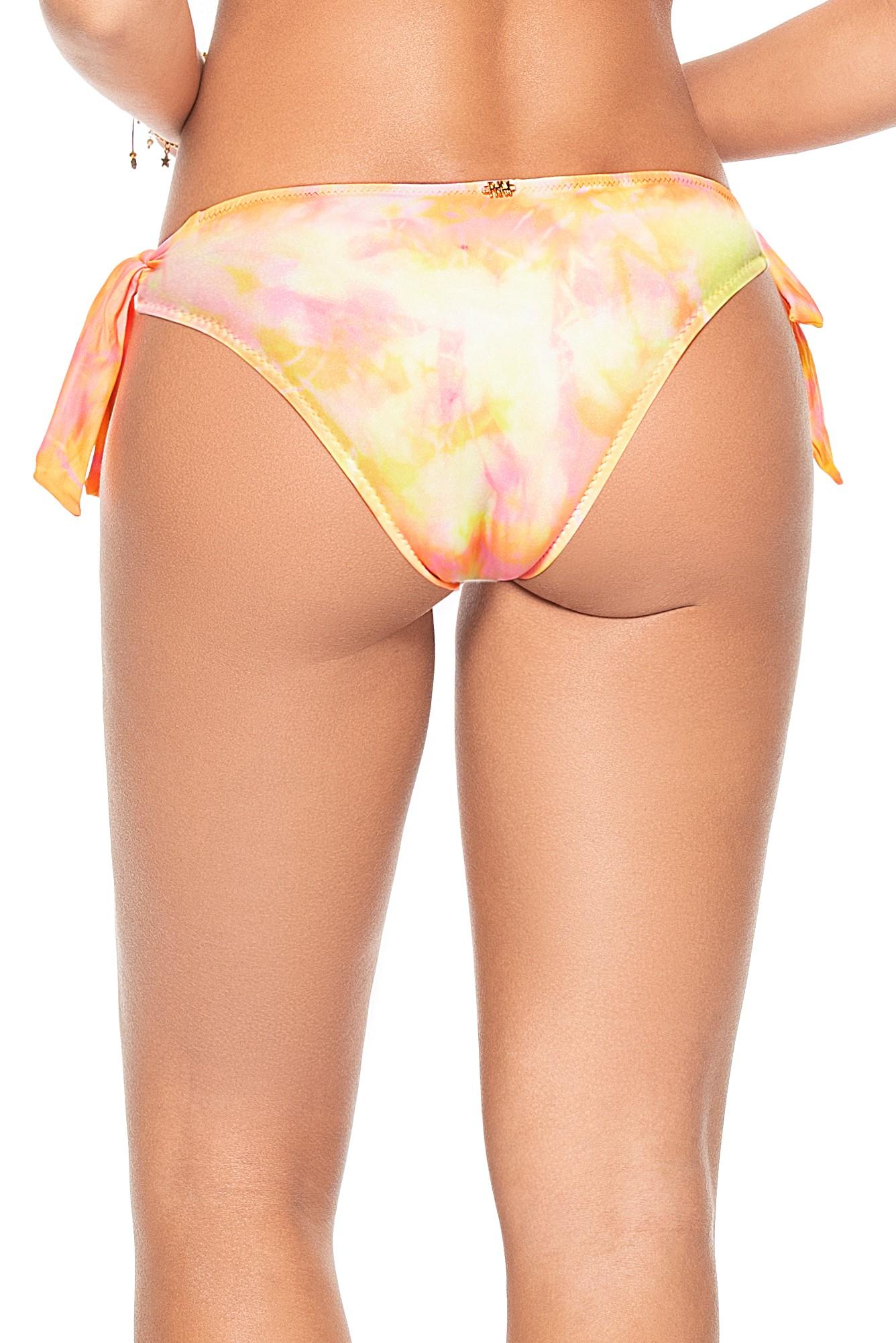 Phax Bella Iceland Yellow Tie Dye Tie Side Bikini Bottom
