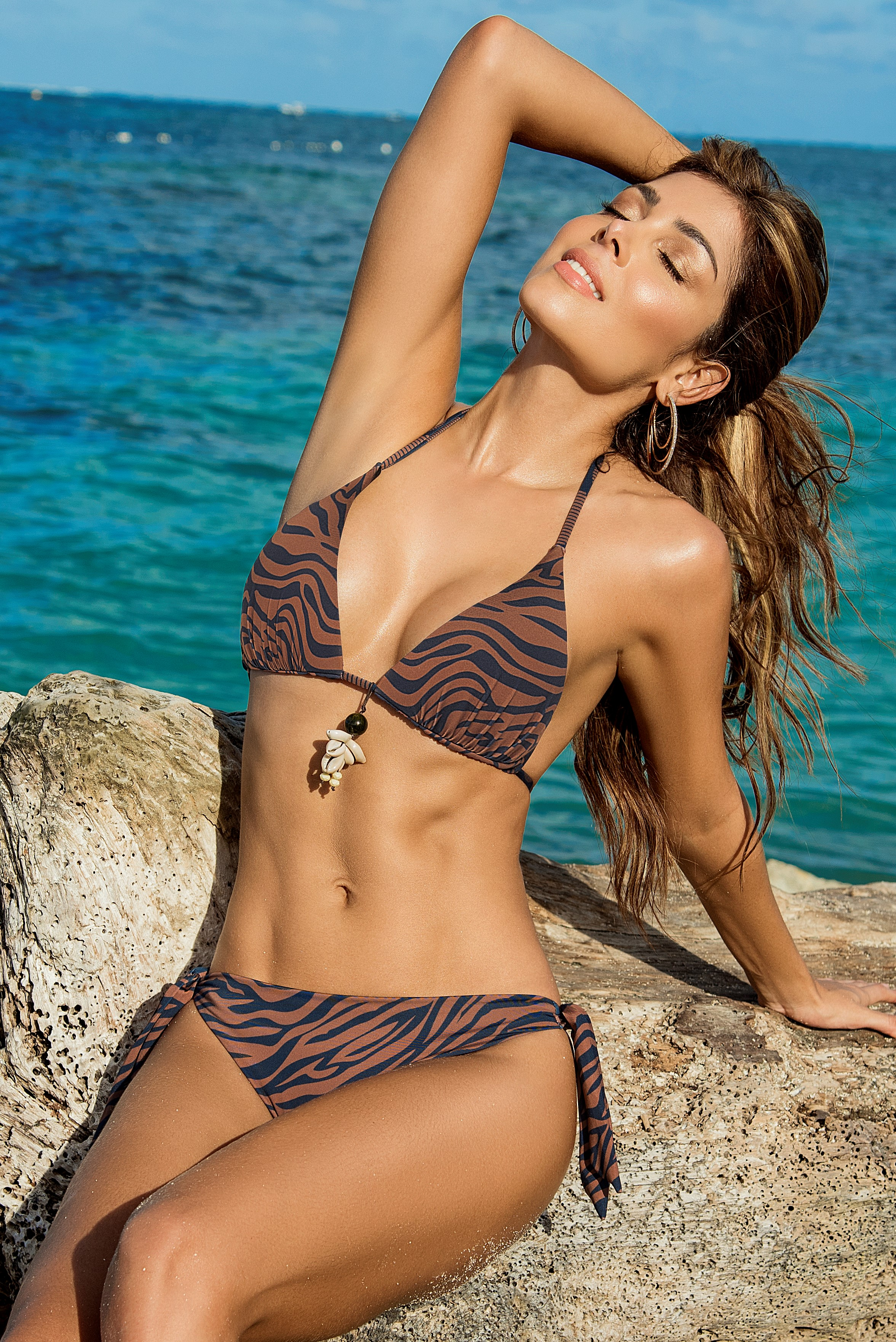 Phax Safari Zebra Triangel Bikini