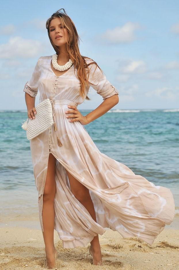 Hot Lava Dress Mia Sol -medium-Taupe