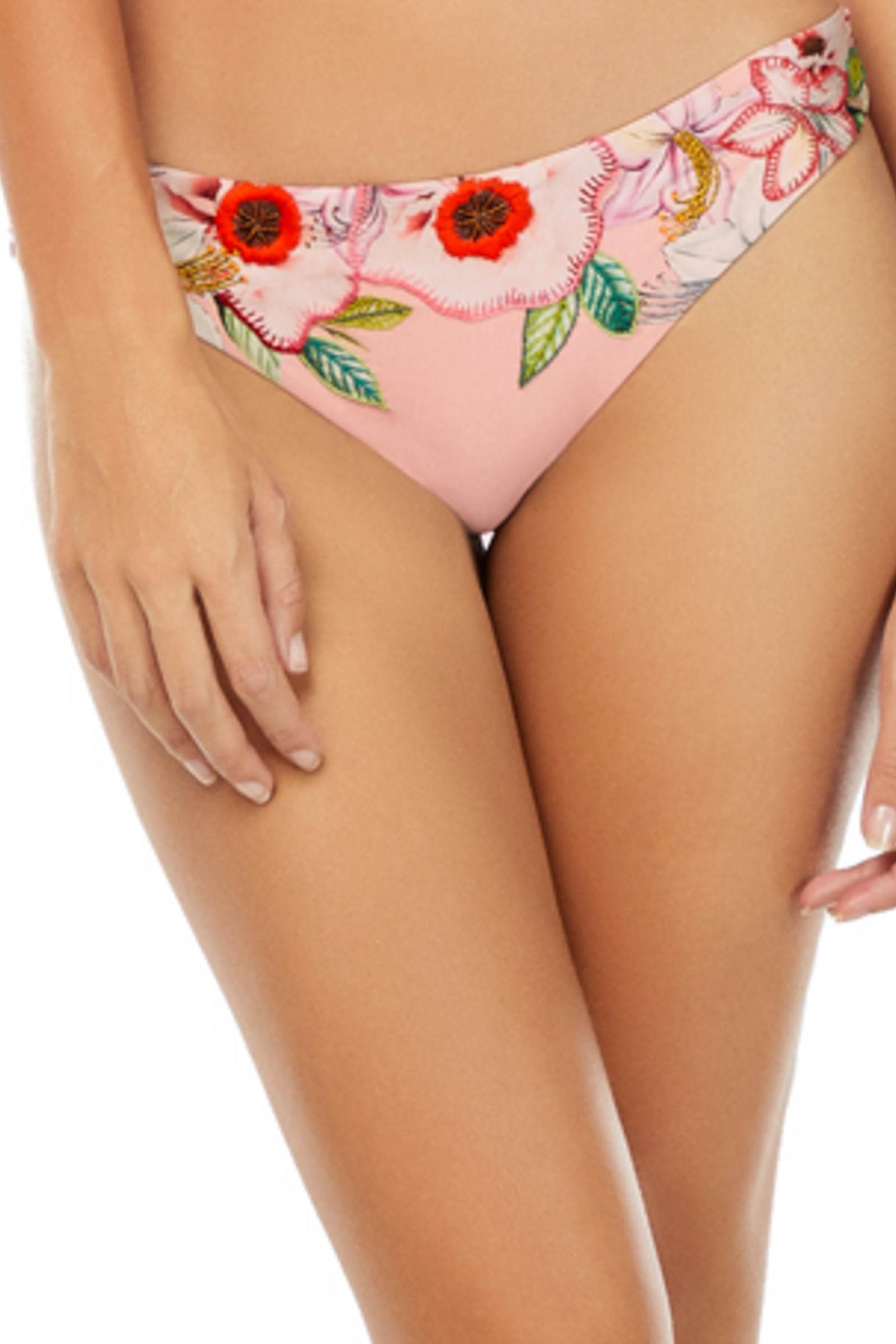 Cosita Linda Still Garden Scrunch Bikini Bottom Pink