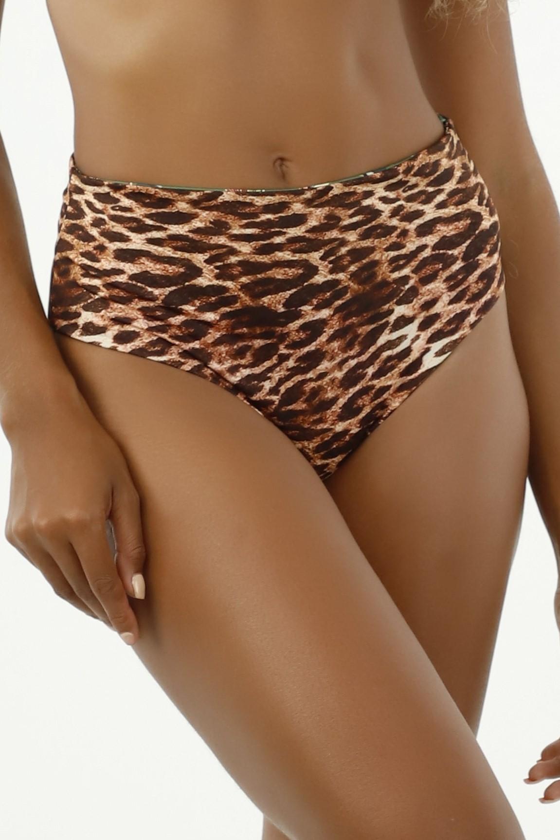 Milonga Selva Reversible High Waisted Bikini Bottom