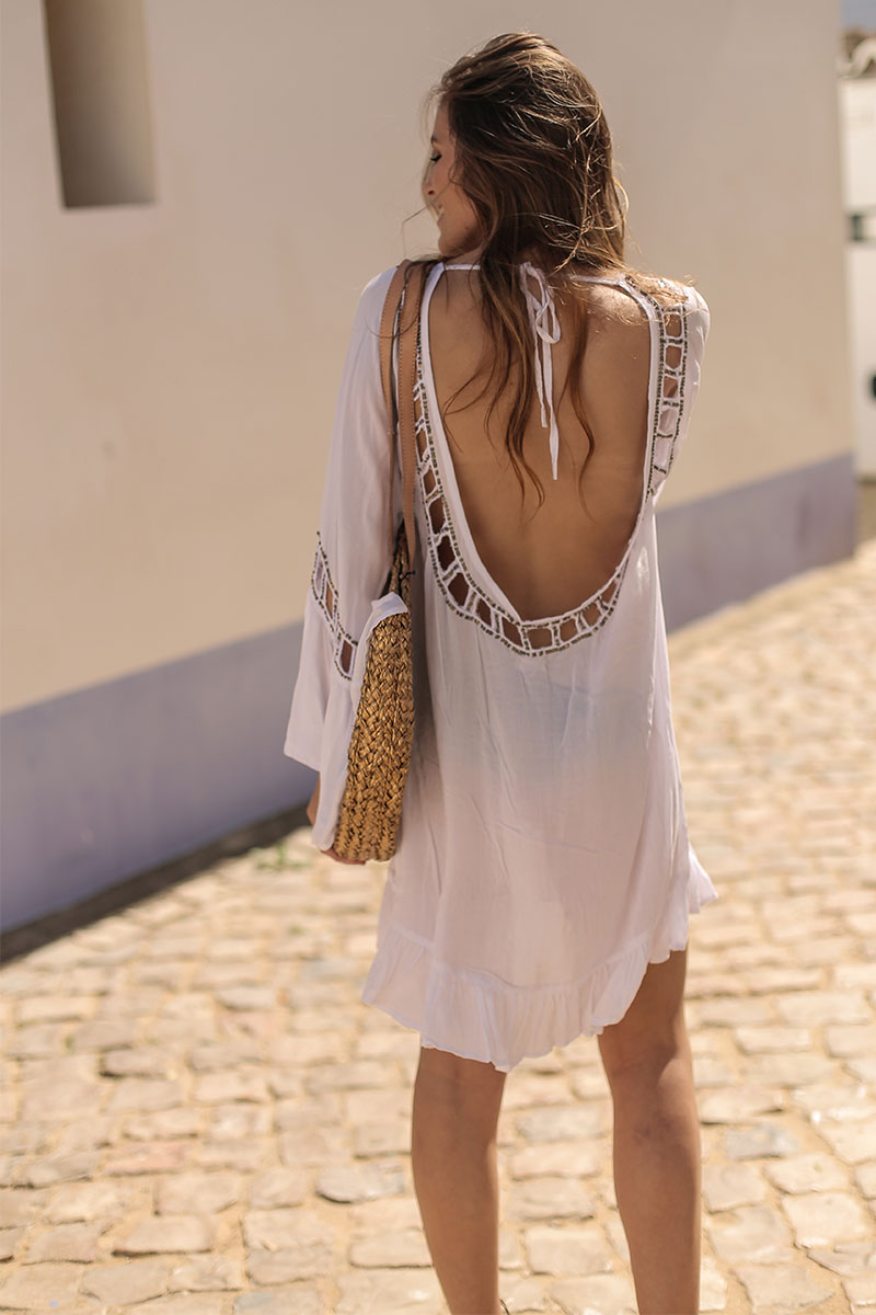 Beach Fashion Only Anguilla Kaftan White