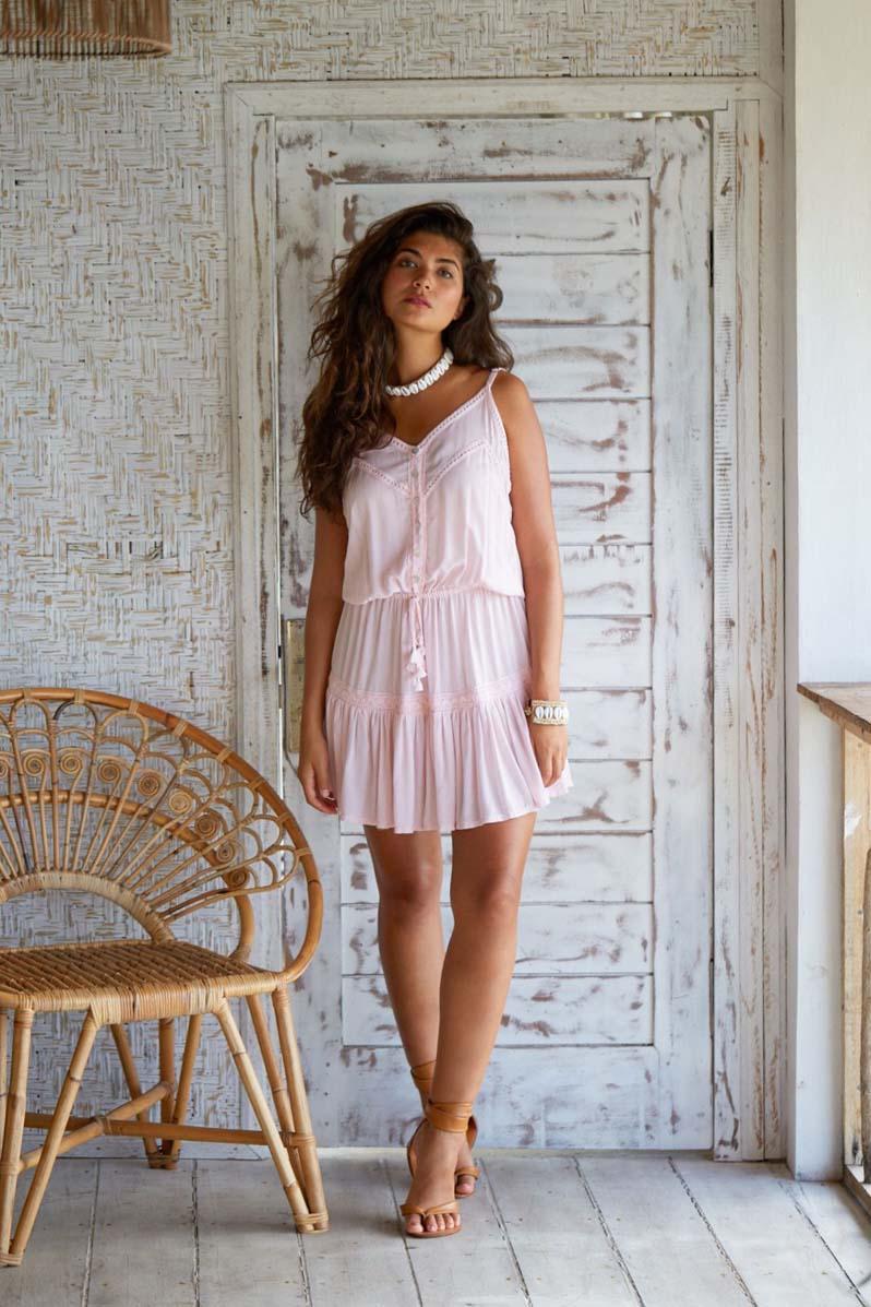 Hot Lava Daisy Dress Powder Pink