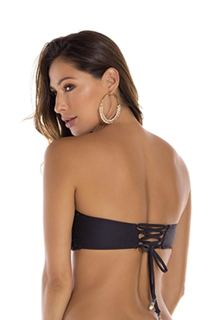Milonga Palette Zwarte Bandeau Bikini Top