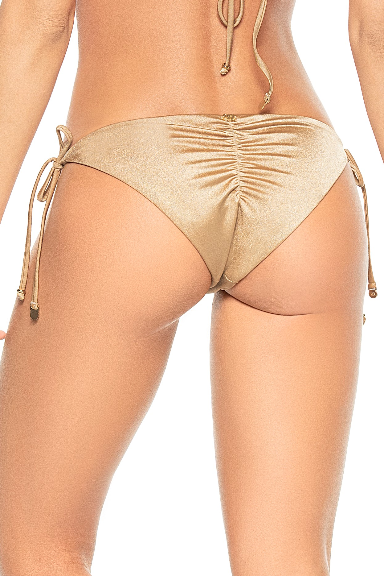 Phax Bella Brasil Golden Scrunch Bikini Bottom