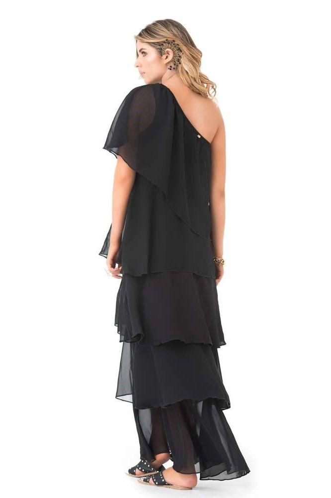 Phax One Shoulder Ruffle Maxi Dress