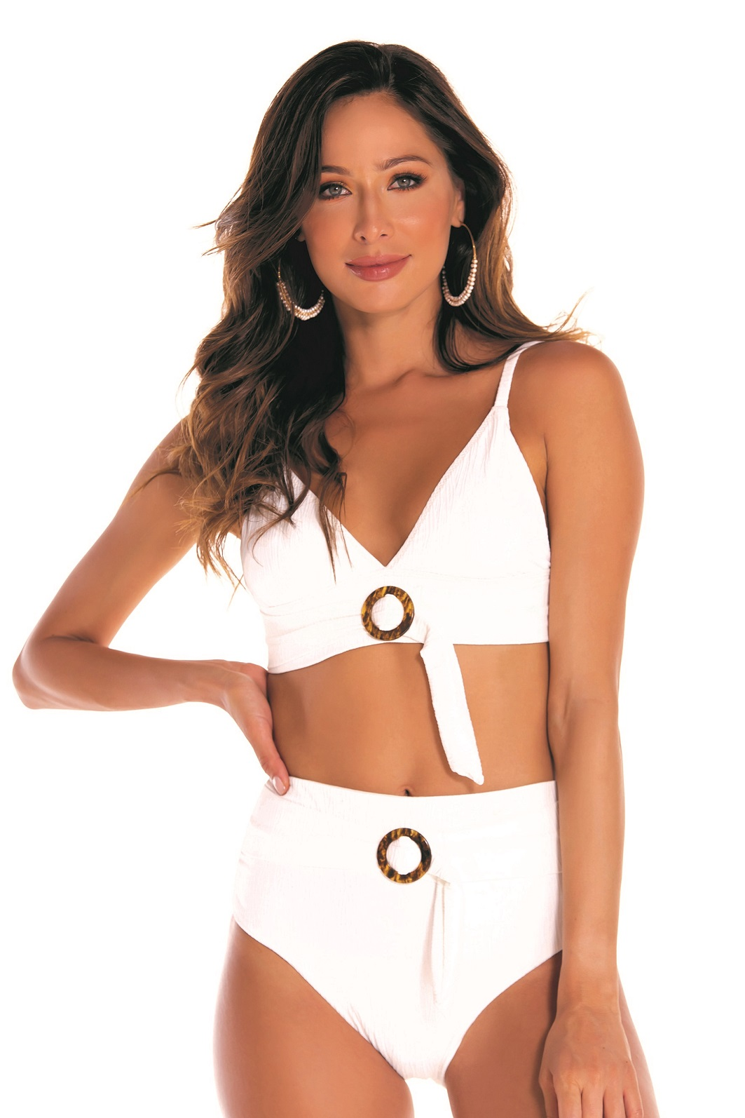 Milonga Florencia Retro High Waisted Bikini Ivory