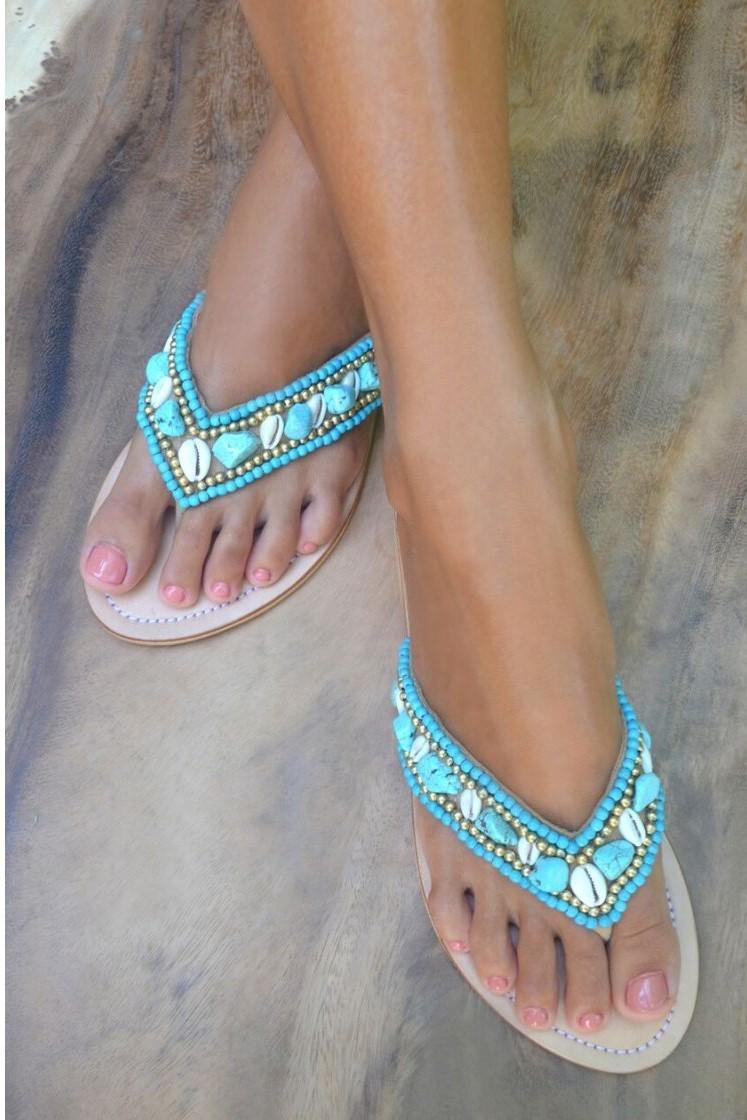 Hot Lava Slippers Laguna Turquoise-36-Turquoise