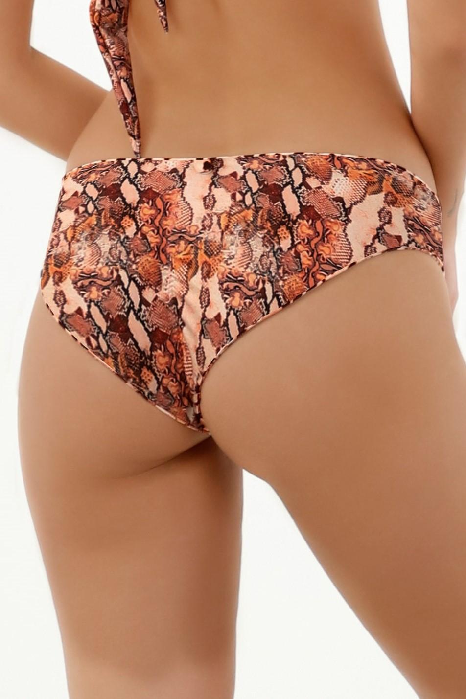 Milonga Guepardo Omkeerbaar bikini broekje luipaardprint en slangenprint