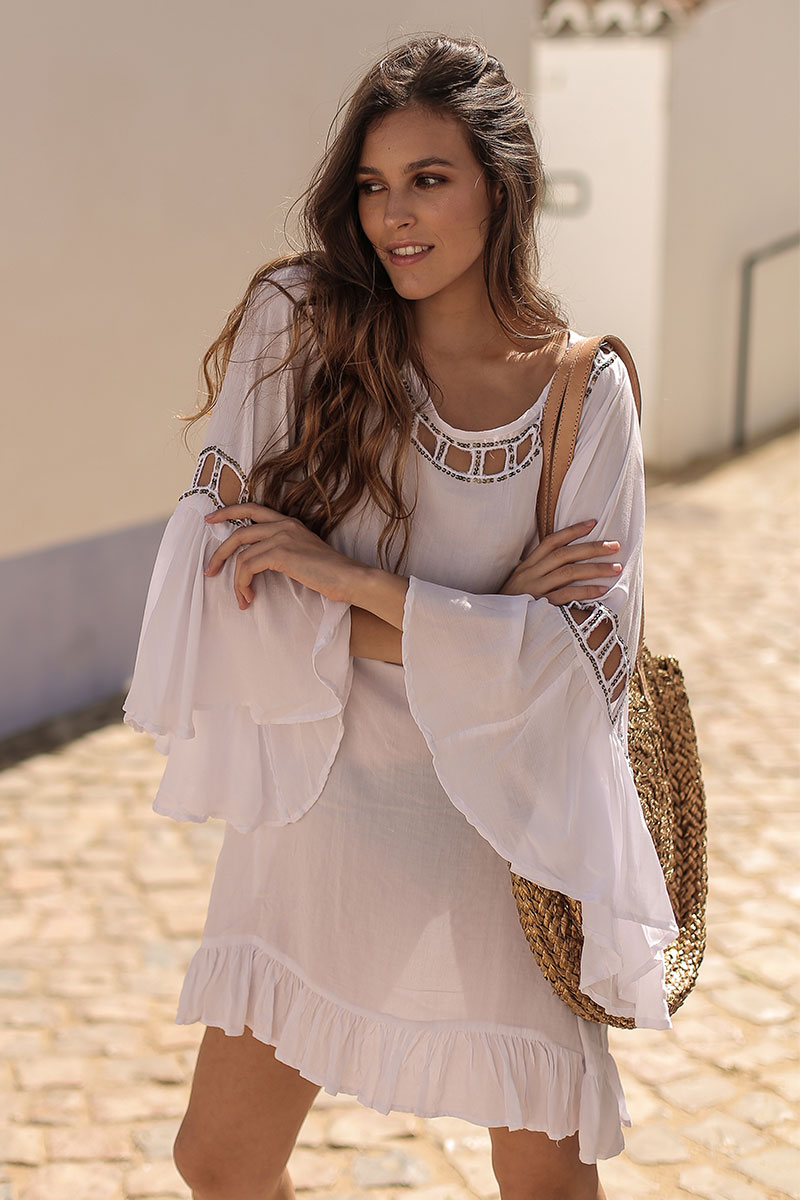 Beach Fashion Only Anguilla Kaftan Wit