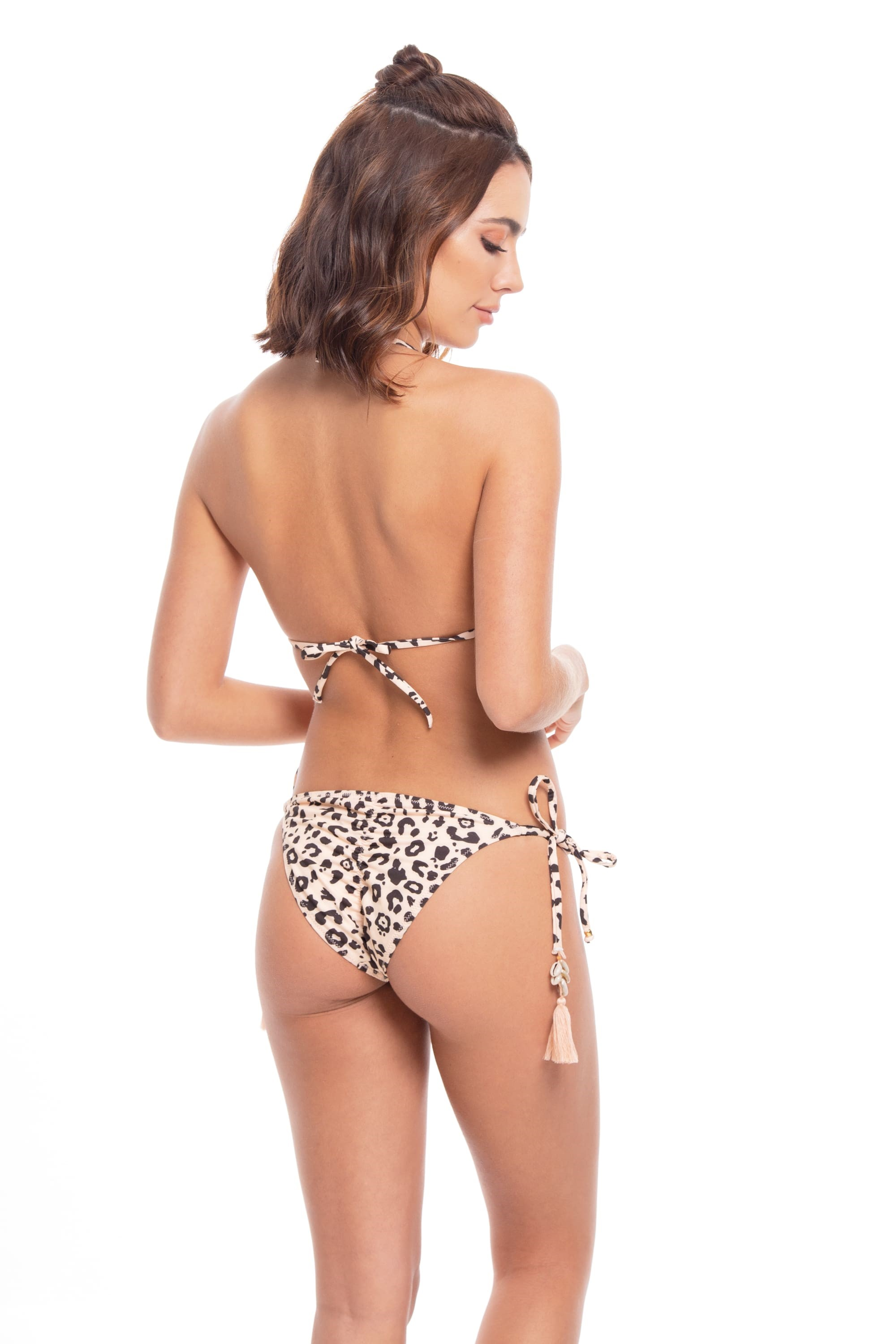Milonga Jaguar Triangel Tie Side Bikini Dierenprint