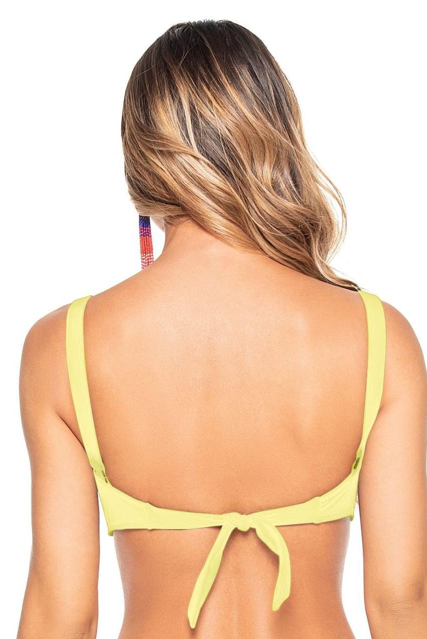 Phax Mimosa Yellow Strapless  Wire Bikini Top