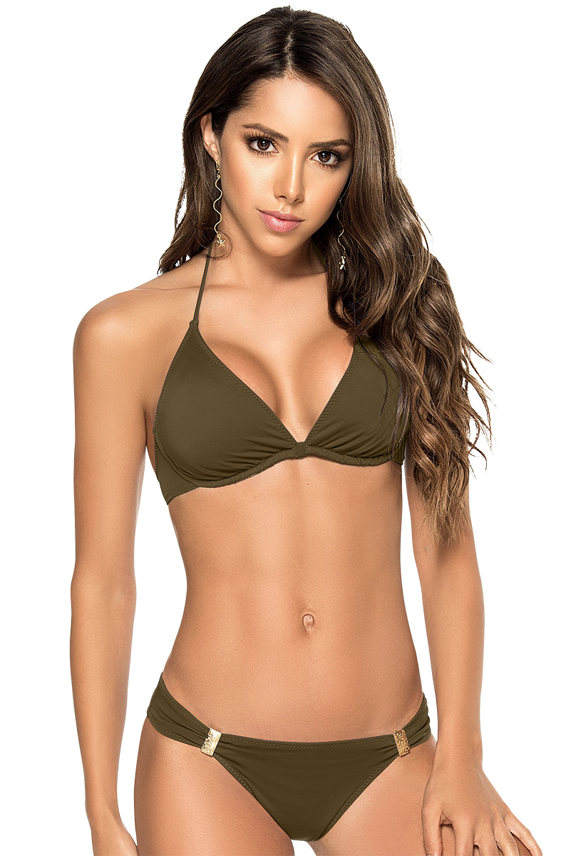 Phax Color Mix Underwire Bikini Khaki Green