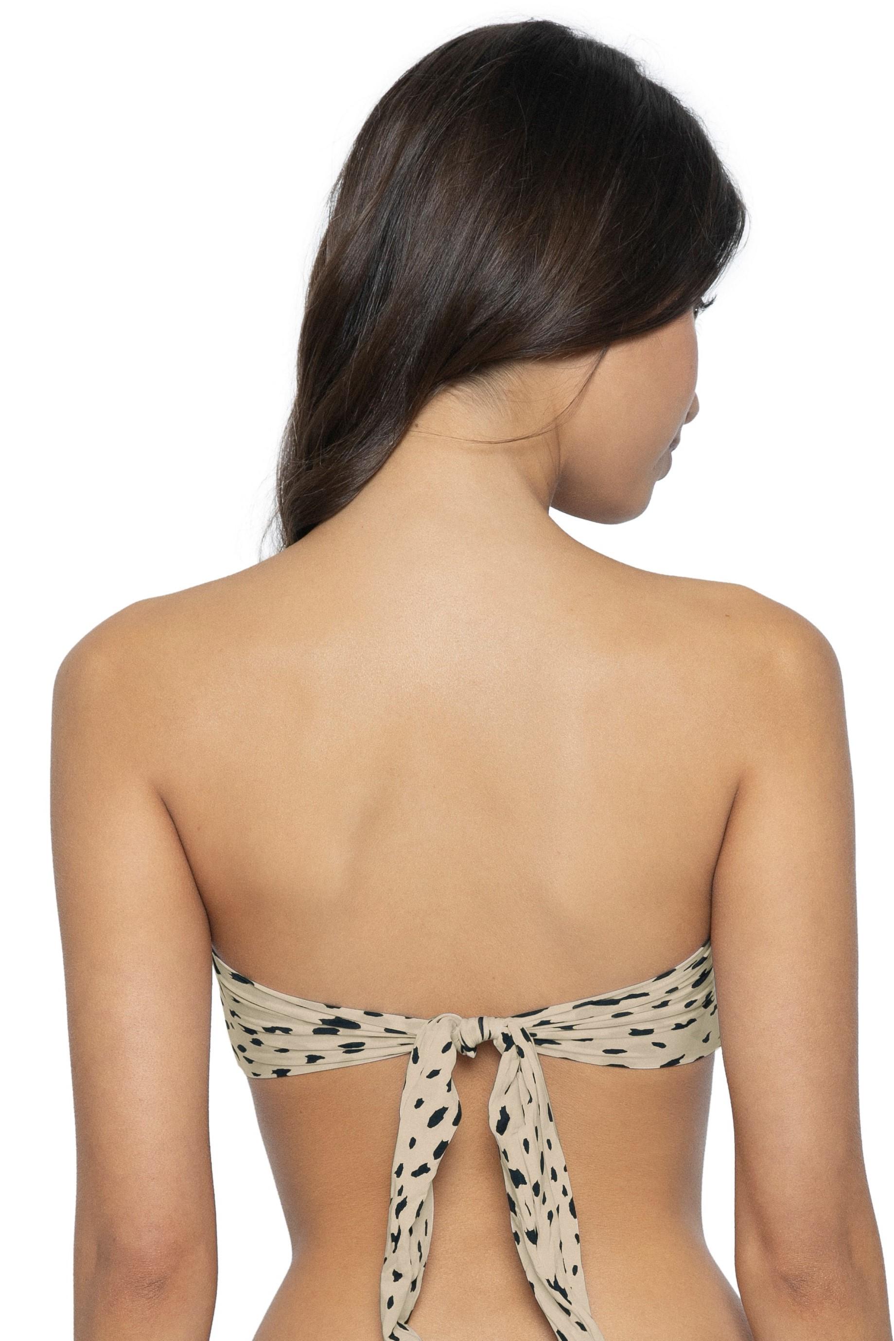 Pilyq  Swim  Wild Heart Color Block Bandeau Bikini Top