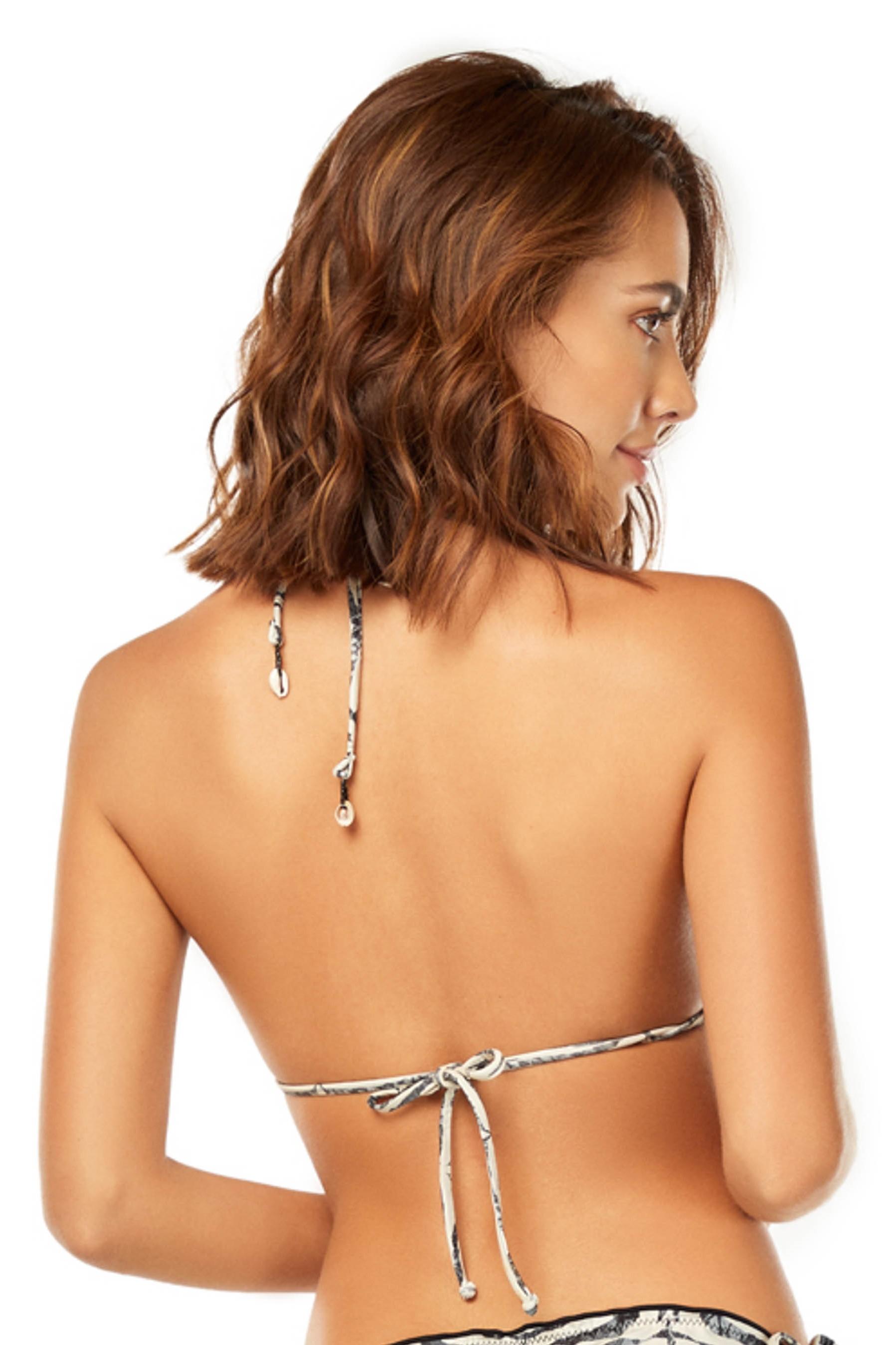 Cosita Linda Zebra Scrunch Bikini Top