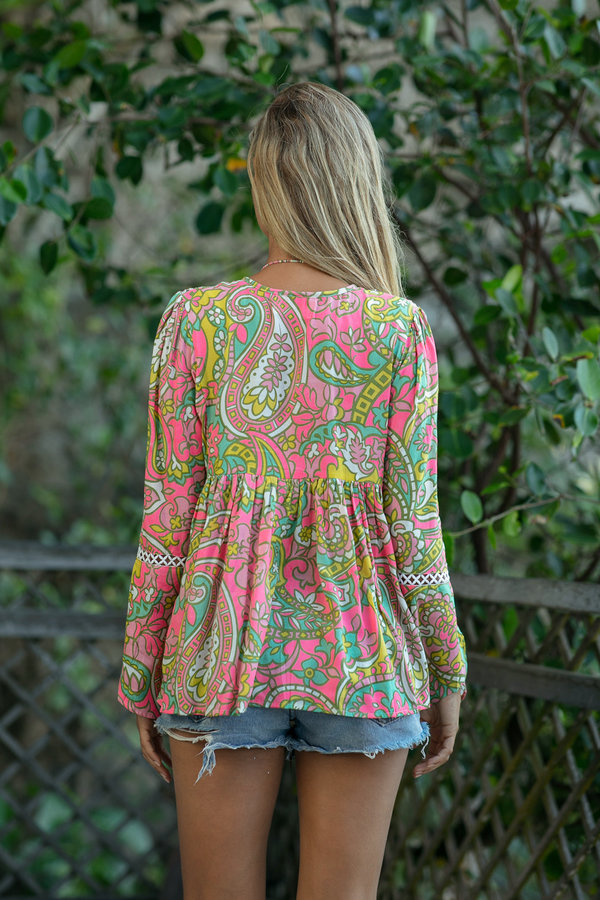 Miss June Top Palm Beach -Uniek-Multicolour