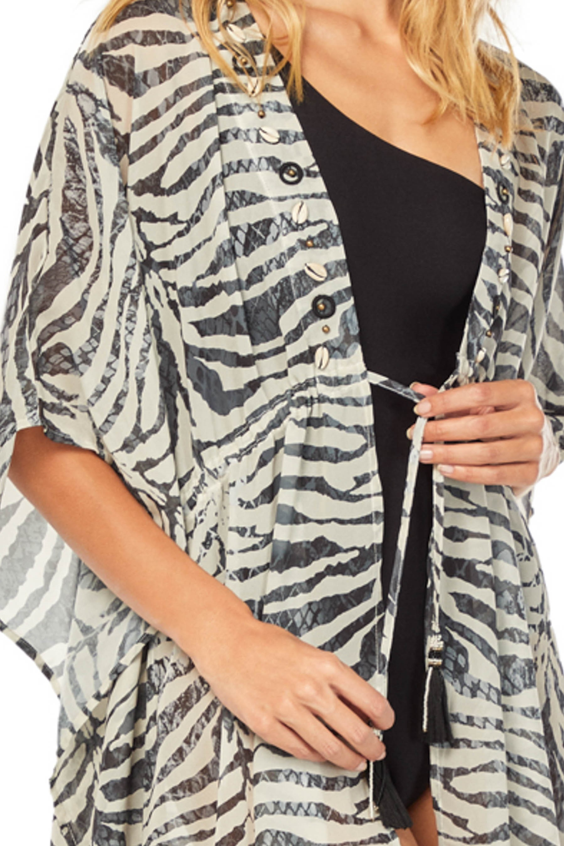 Cosita Linda Zebra Luxe Kimono