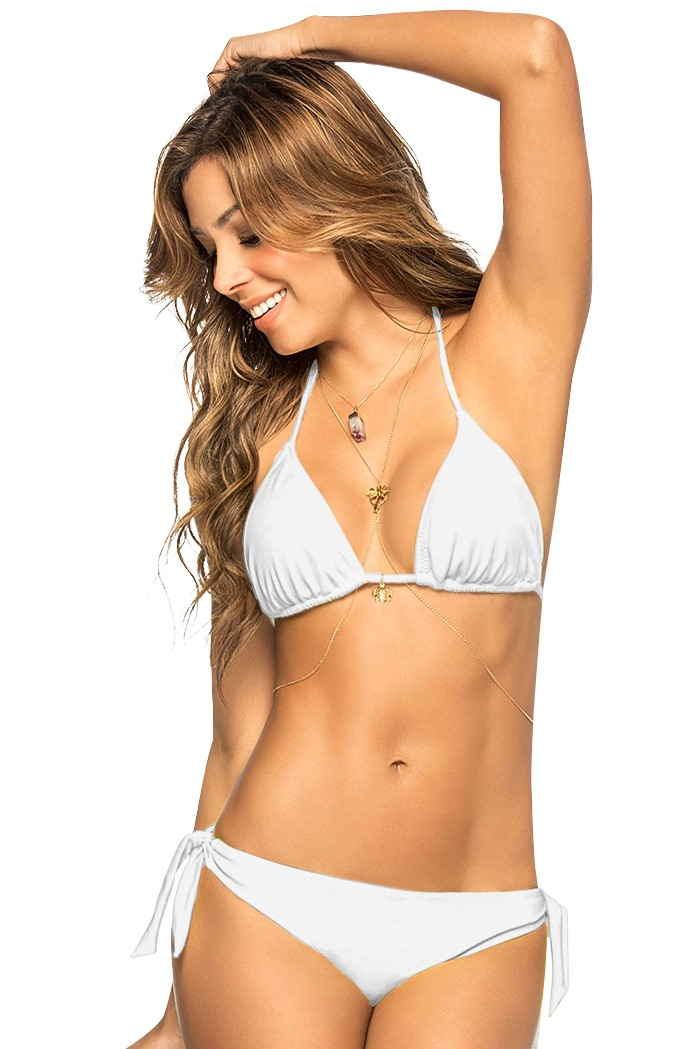 Phax White Triangle String Bikini