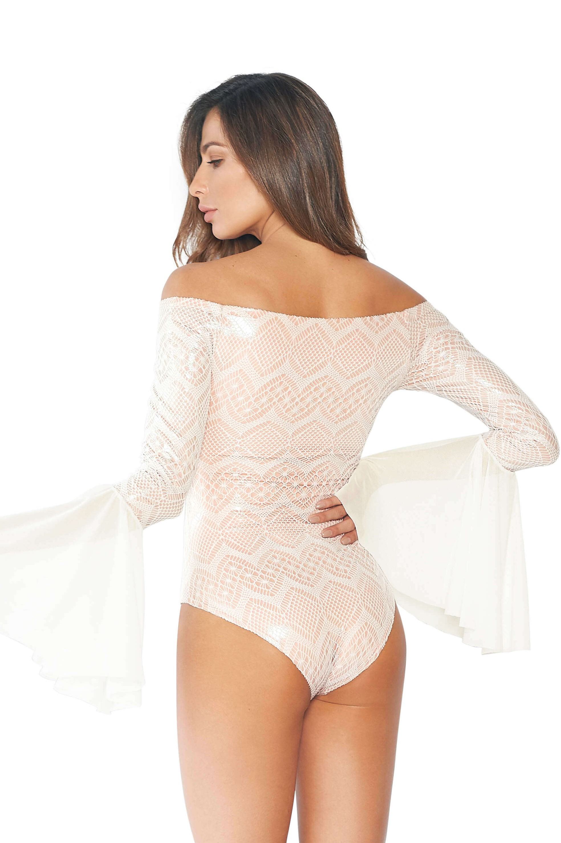 Cosita Linda Encanto Swimsuit Long Sleeve-extralarge-Wit