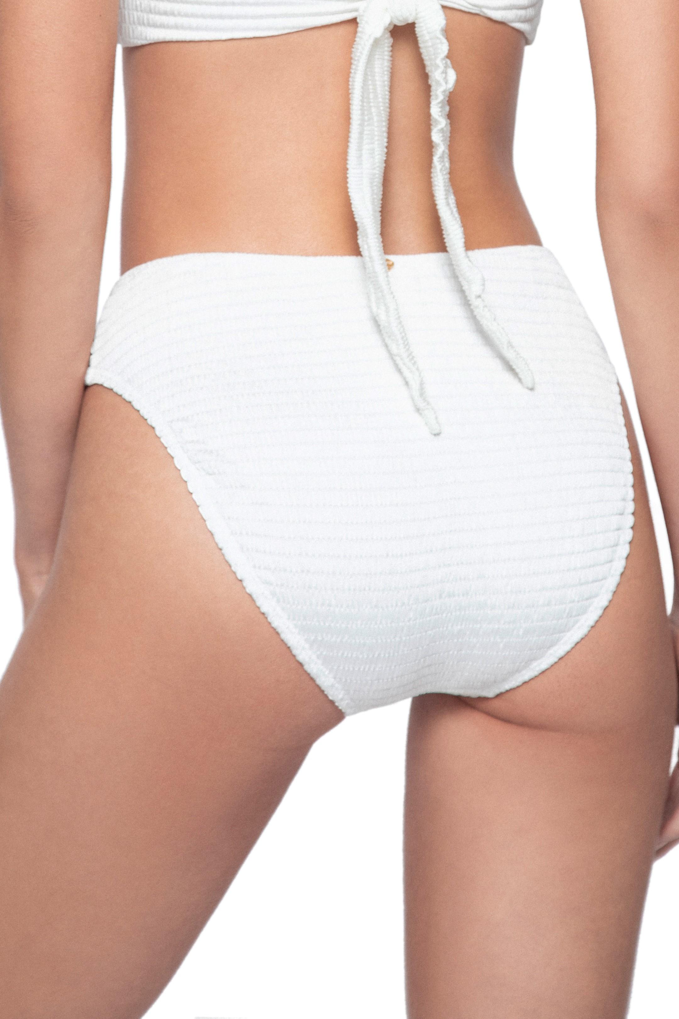 Pilyq Swim Pure High Waisted Bikini Bottom Ivory