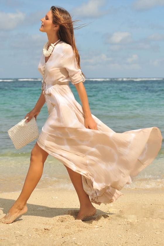 Hot Lava Dress Mia Sol -large-Taupe