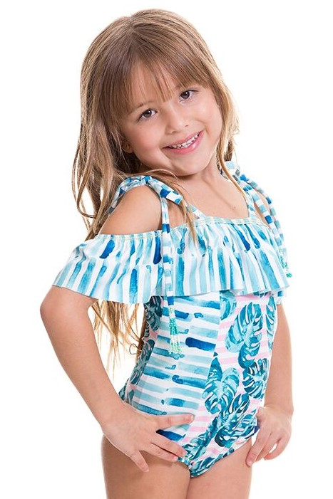 Milonga Organic Kids Swimsuit -6 jaar-Multicolour