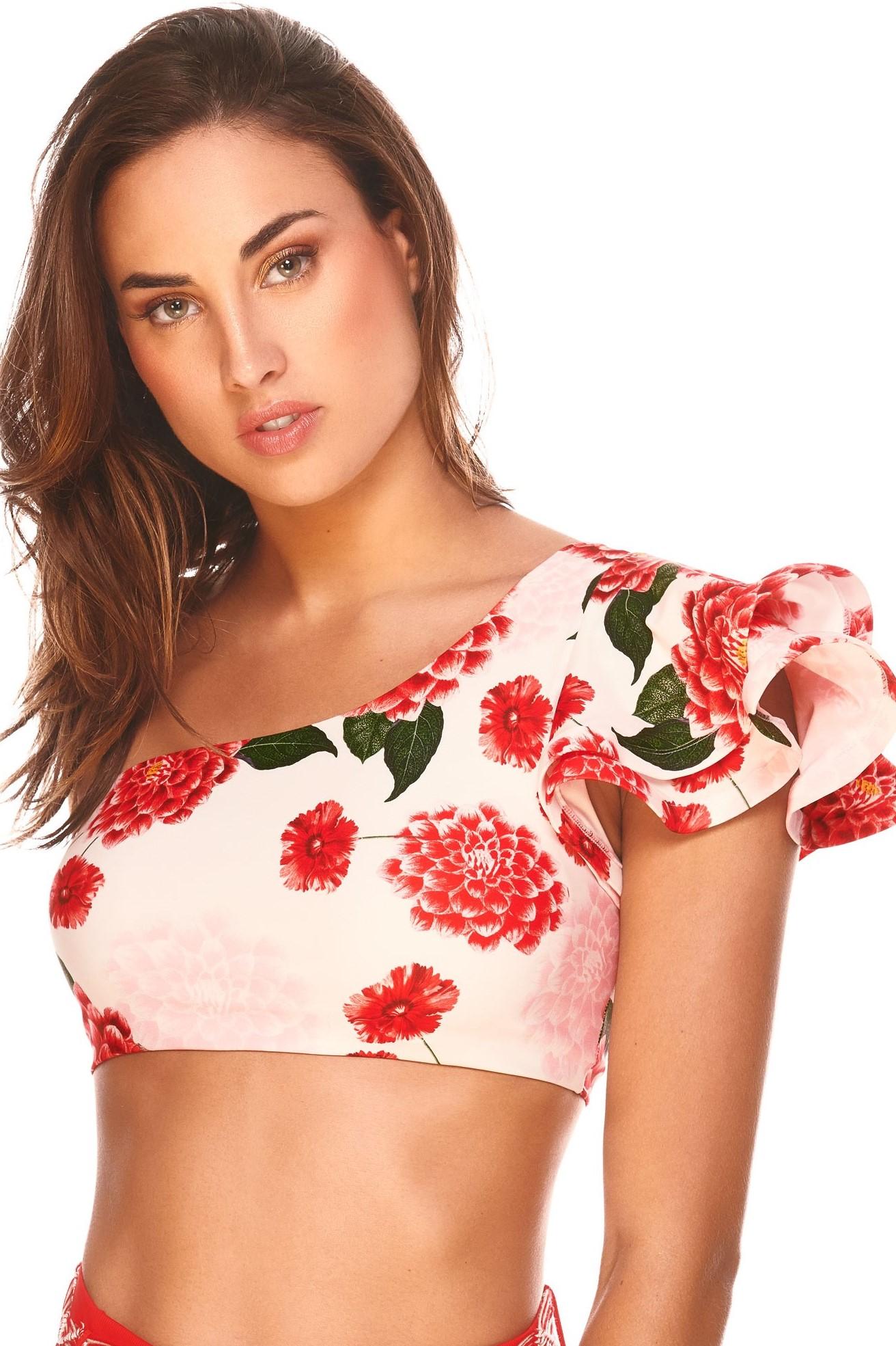 Cosita Linda Amazonas One Shoulder Bikini Top -medium-Rood