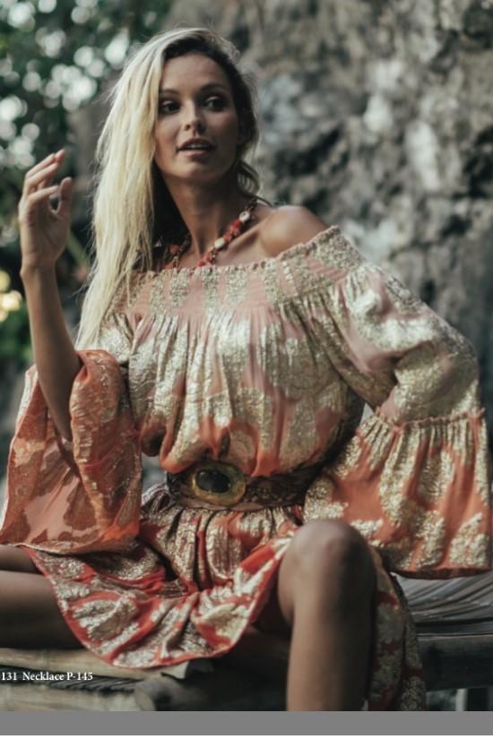 Miss June Summer Dress Waldorf -Uniek-Perzik