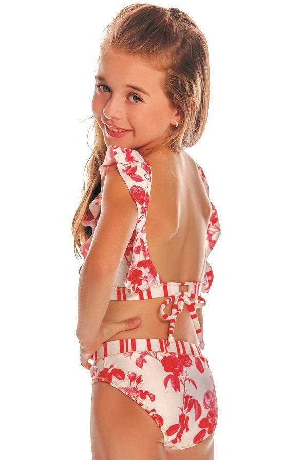 Milonga Camelia Kinder Bikini Ruches