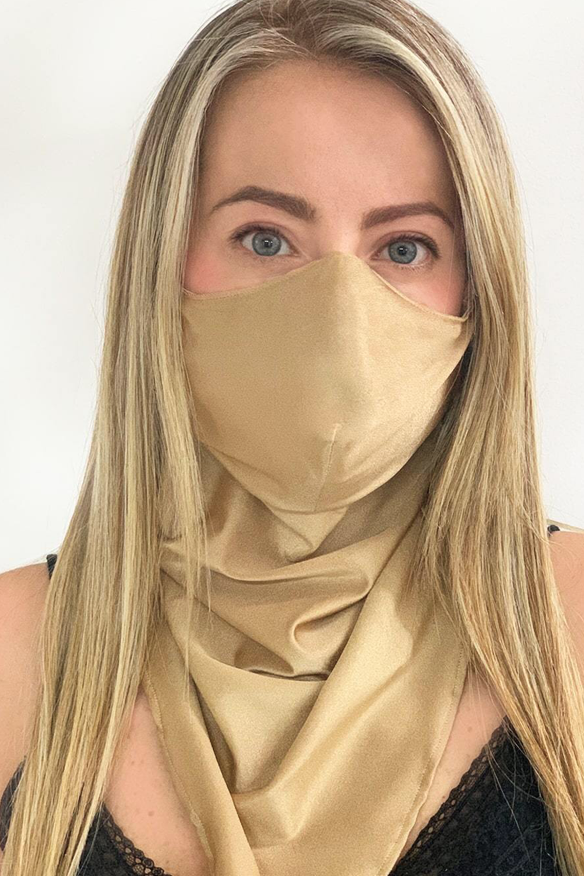 Milonga Face Mask With Scarf-Uniek-Goud