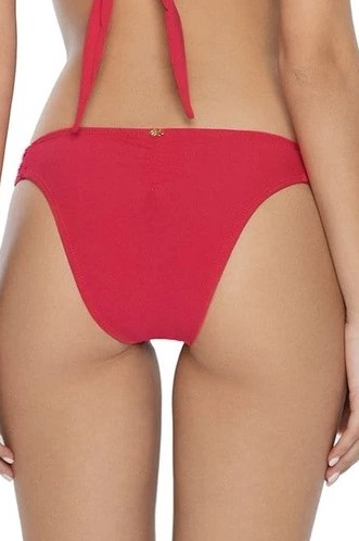 Pilyq Swim Crimson Lace Bikini Bottom Red