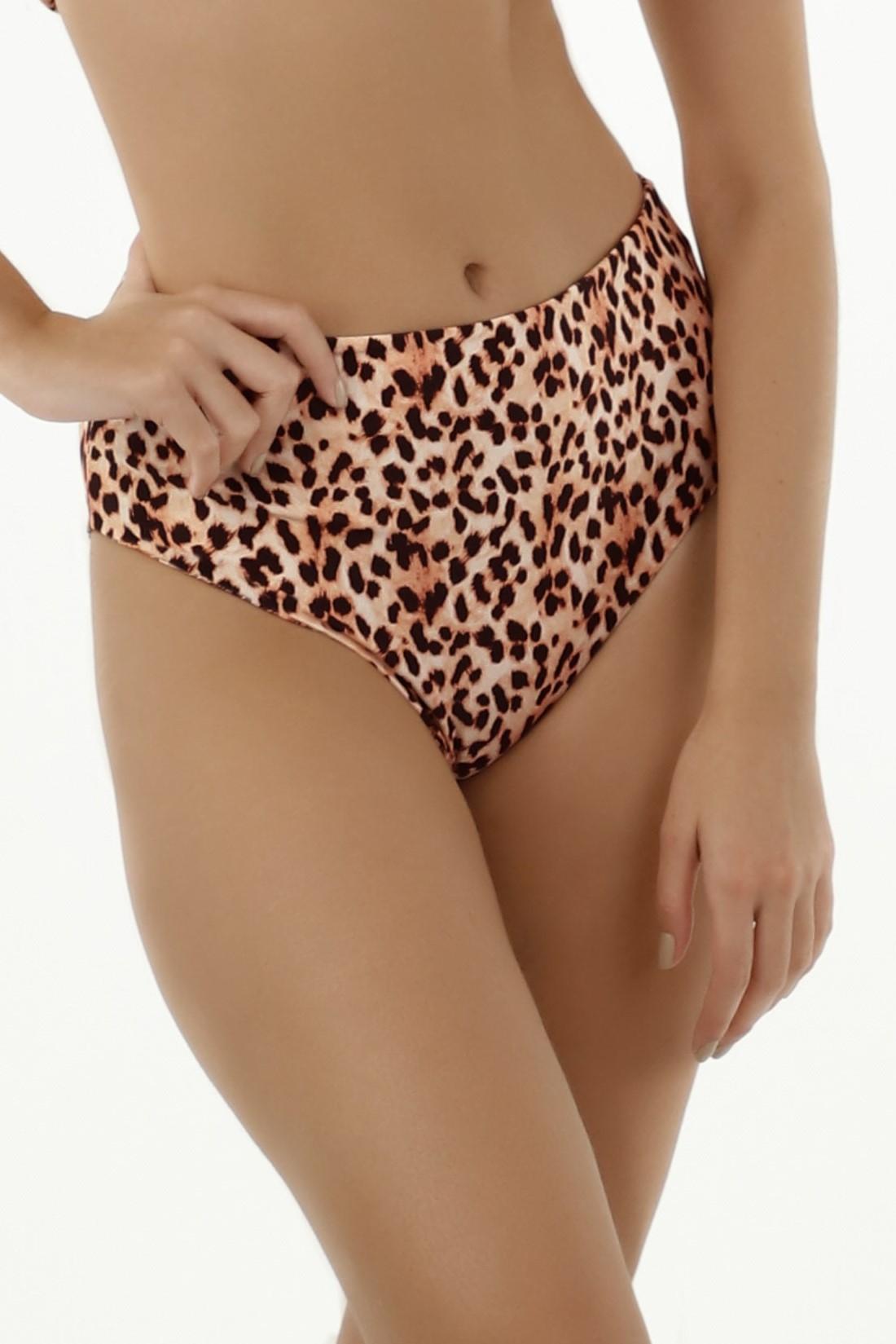 Milonga Guepardo Reversible High Waisted Bikini Bottom