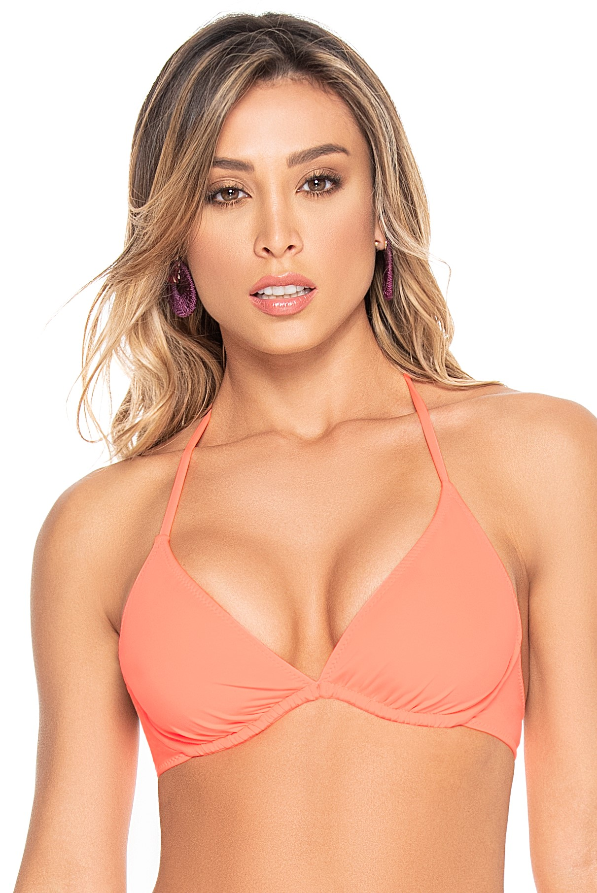 Phax Color Mix Pastel Orange Triangle Wire Bikini